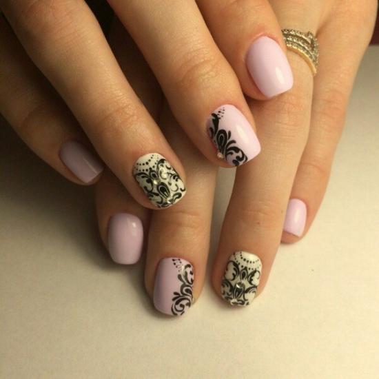 Красивый маникюр фото на коротких ногтях пошагово фото