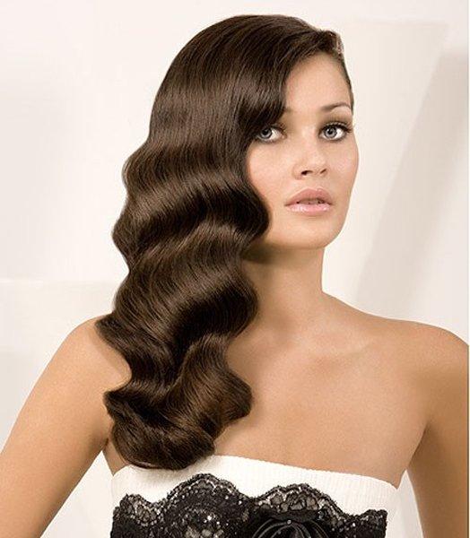 Причёска для тонких длинных волос
