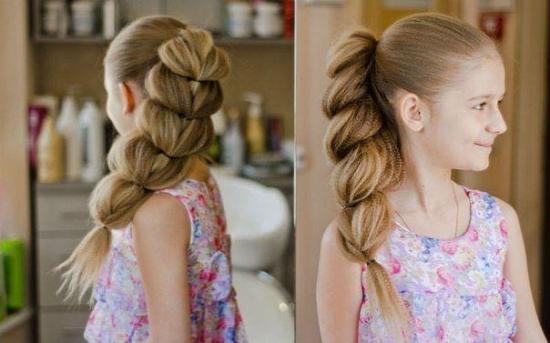 Детские причёски на тонкие волосы