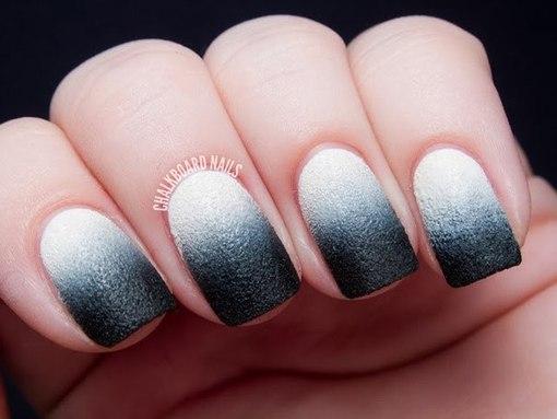 Как сделать градиент на ногтях гель лаком кистью