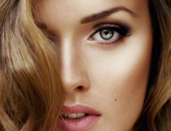 Макияж для серых глаз с нависшими веками (фото)