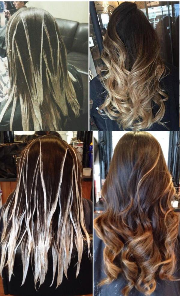 Как делают балаяж волос