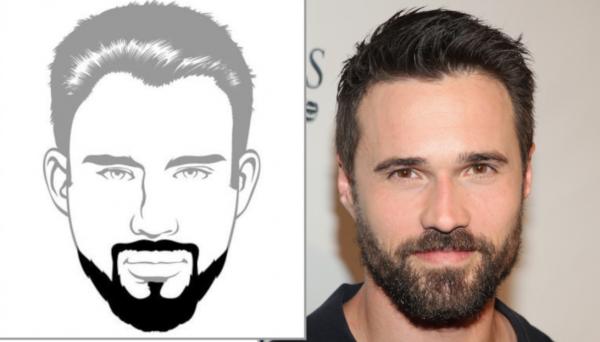 голливудская борода или бретта